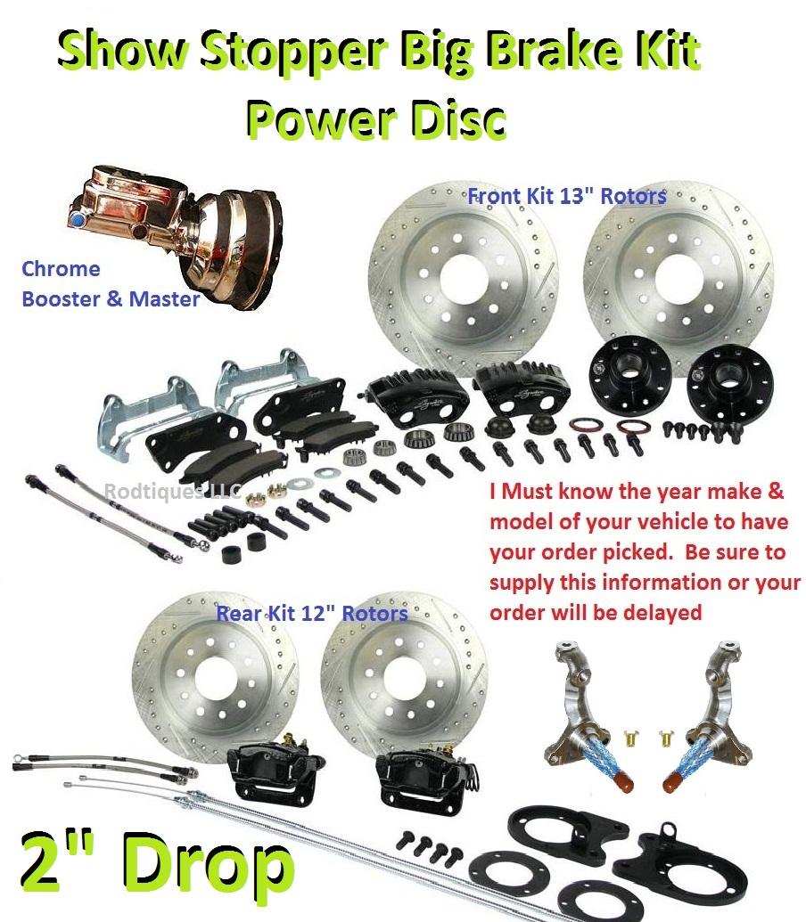 Big Disc Brake Conversion Kit 4 Wheel Show Stopper 64 72 GM A F x Body