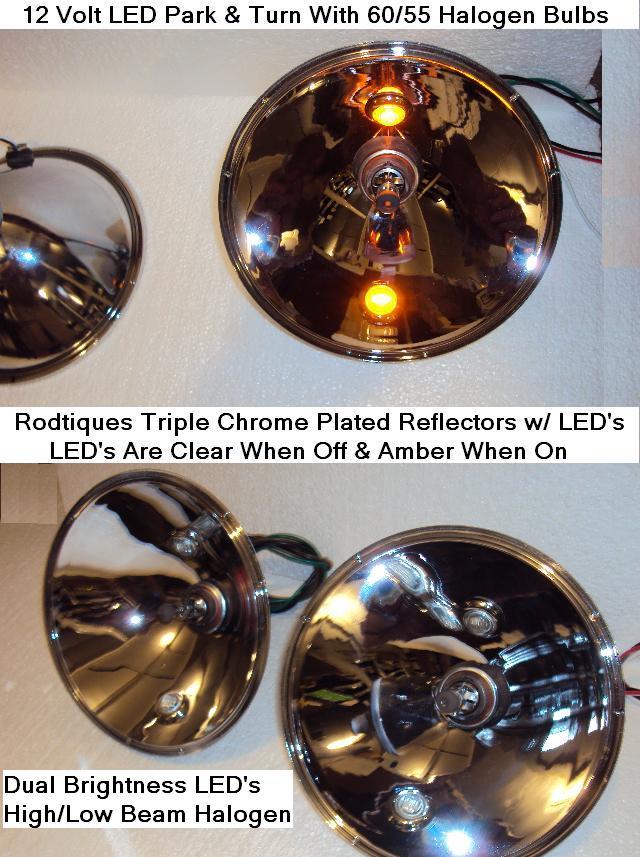 Ford 1935-1936 Car 1935-1939 Truck LED Headlight Reflectors LED Light
