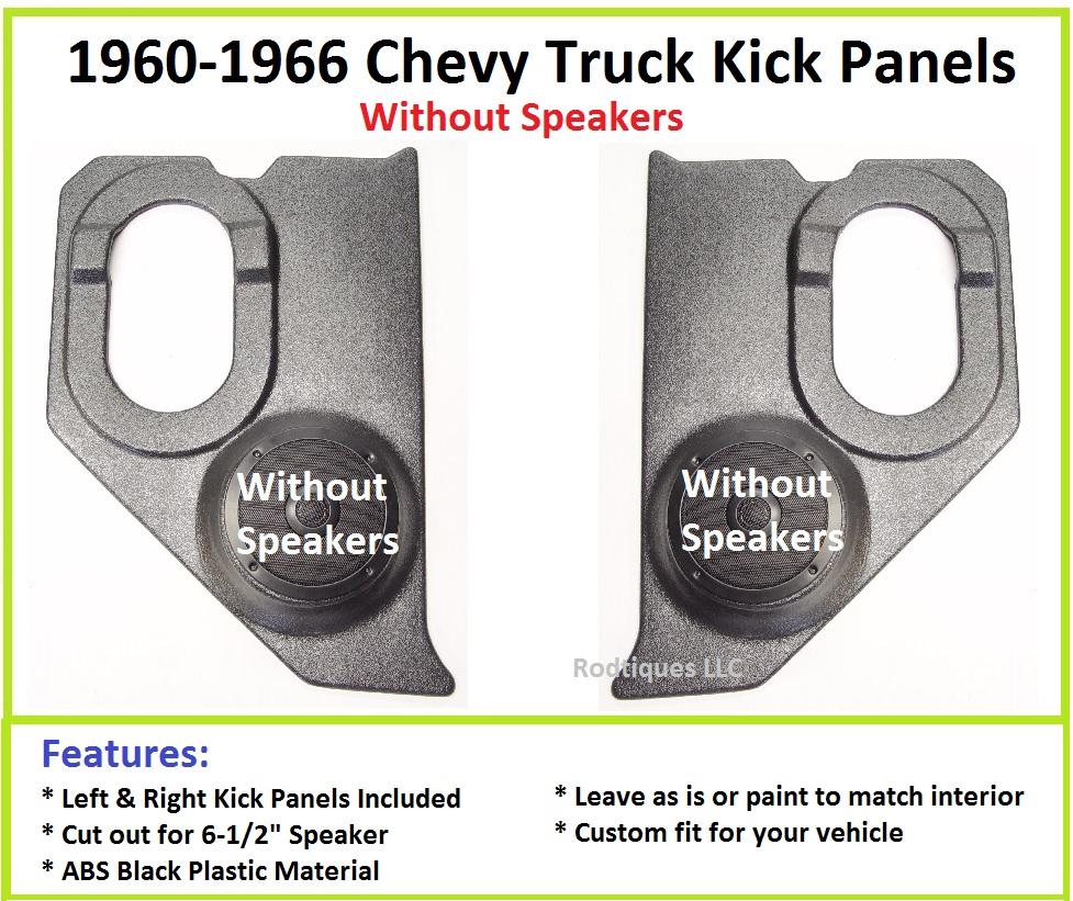 1960 1966 chevy gm truck kick panels no speakers installed ebay. Black Bedroom Furniture Sets. Home Design Ideas