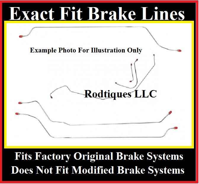 Brake Line Sizes : Full size chevy car brake line kit power drum