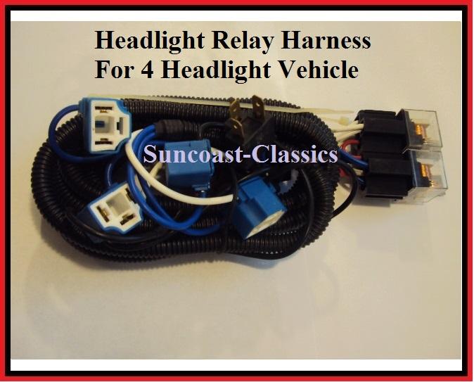 h4 headlight relay harness 4 head lamp light system fix ... h4 headlight plug wiring